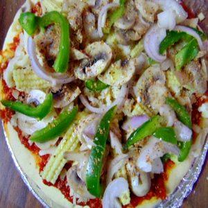 Babycorn & Mushroom Pizza