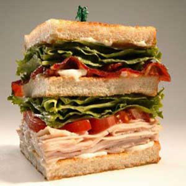 Vegetable Club Sandwich